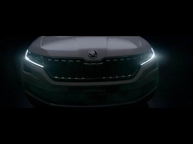 Реклама нового кроссовера Skoda Kodiaq Автомобиль Шкода Кодиак Автоцентр Прага Авто на Кольцевой