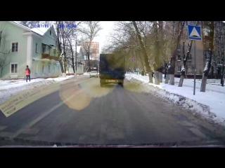 Люберцы 11.01.2017 наезд на девушку