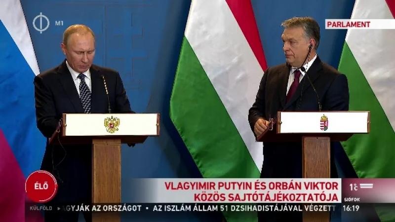 Putyin-Orbán találkozó: tovább fejlesztenék az együttműködést