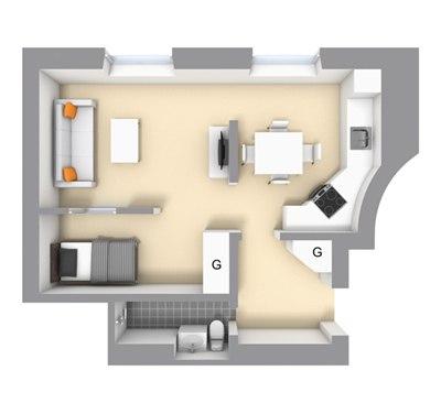Скандинавский интерьер: квартира 39 м.