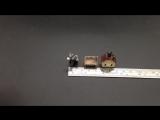 Tiny-S006Donkey / Micro Mini Donkey Animal Figures Toys DIY Accessories Chair Farmhouse Scene Game