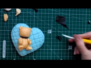 Sugar Cookie Idea for Valentine Day Cookie. Decorating cookies. Cute Fondant Bear