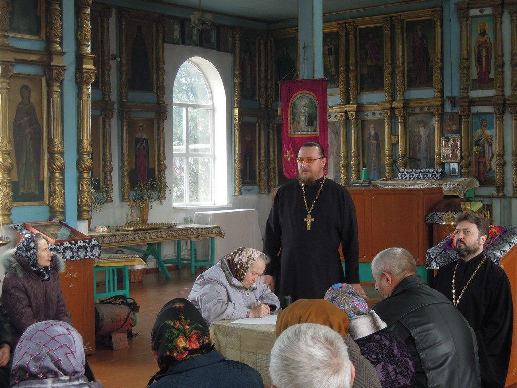 В Свято-Никольском храме станицы Сторожевой прошло Приходское Собрание