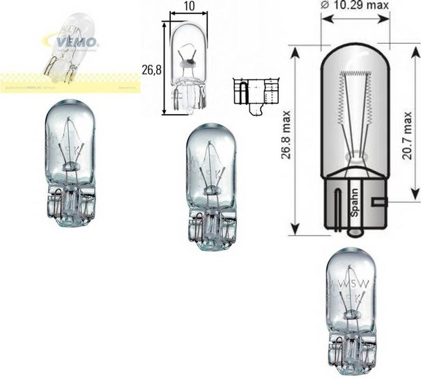 Лампа накаливания, освещение щитка приборов для BMW 8 (E31)
