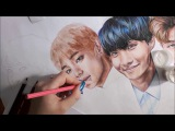 Taehyung BTS The Brightest Star drawing (by Elena Martynyuk)