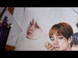 Jungkook BTS The Brightest Star drawing (by Elena Martynyuk)