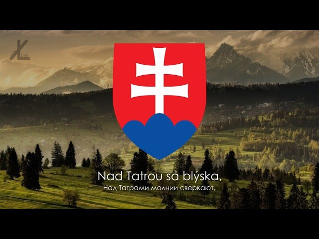 Гимн Словакии Nad Tatrou sa blýska Над Татрами молнии сверкают Русский перевод Eng subs