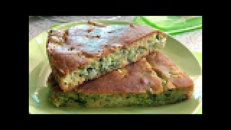 Пирог с капустой. Нежный заливной пирог с капустой на кефире.