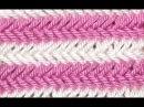 DIY Плотный односторонний узор спицами Ёлочка или Колосок или Паркет ( твид )