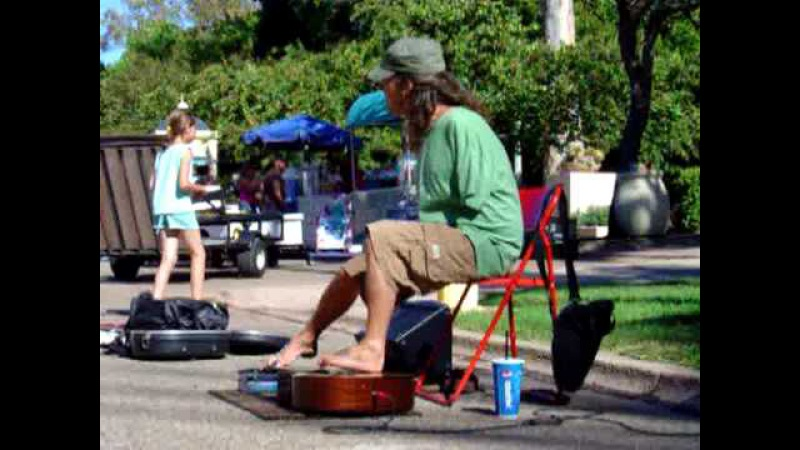 Mark Goffeney Playing Let It Be by The Beatles with his feet. San Diego's Big Toe Band