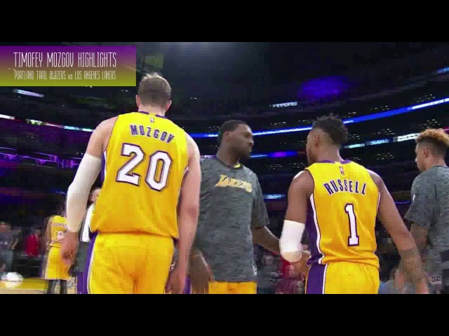 Timofey Mozgov Highlights (Portland Trail Blazers vs Los Angeles Lakers | 12.10.2016)