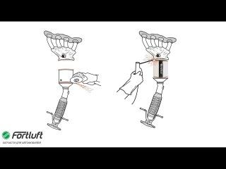 Замена катализатора на пламегаситель Fortluft