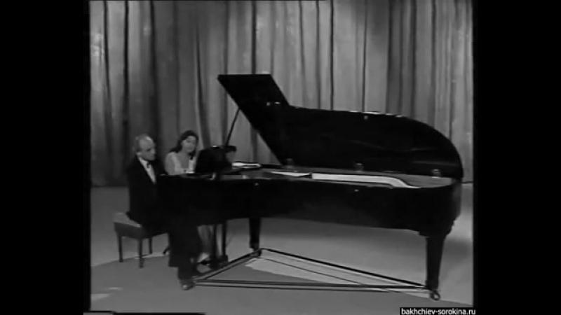 A. Bakhchiev E. Sorokina play Schuberts Galopp Ecossaise