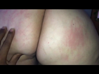 Wife showing her big ass and cunt to bbc bull