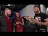 Maria  Mike Kanellis show Sami Zayn that love hurts׃ SmackDown LIVE, July 11, 2017
