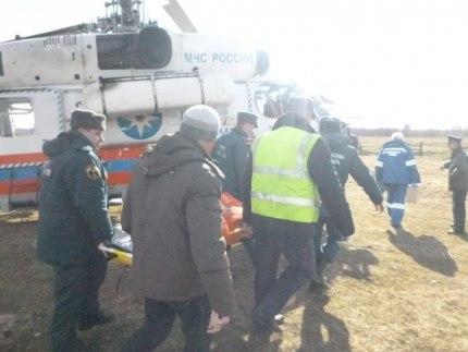 Вертолет доставил больного из Селижарово