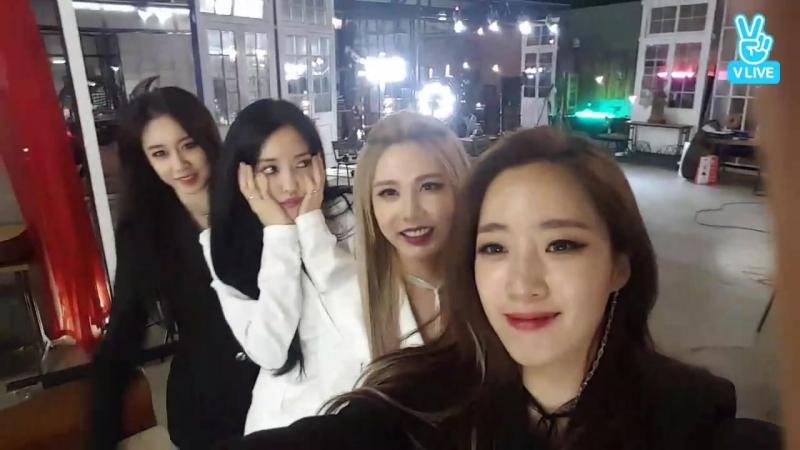 [V LIVE] [T-ARA] 티아라 새앨범 자켓 촬영중 깜짝 라이브!!