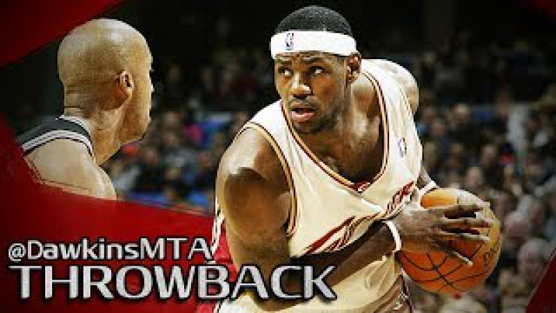 Rookie LeBron James Full Highlights 2004.02.20 vs Spurs - 32 Pts, 11 Rebs To Beat NBA Champs!
