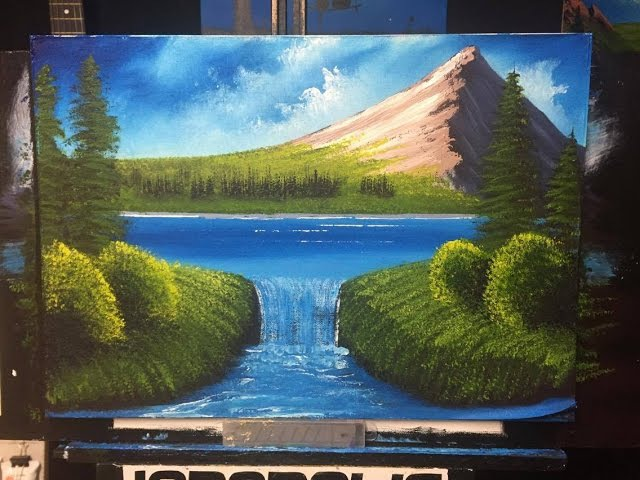 How to paint a lake ACRYLIC