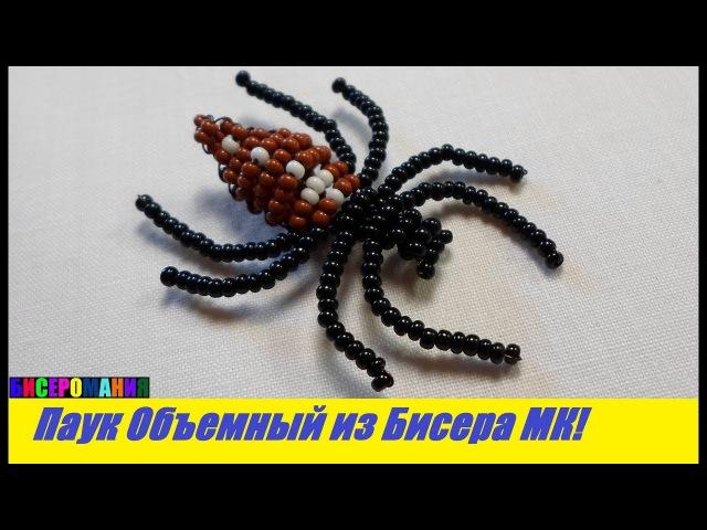 Объемный Паук из Бисера Мастер Класс! Животные из Бисера / Tutorial: Spider of Bead Master Class!