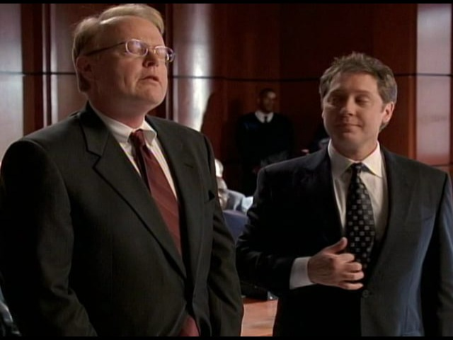 Scene Two from ABC's Boston Legal - Alan and Jerry are hugging