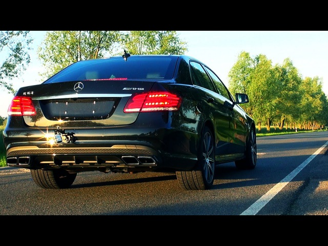Mercedes E63 AMG Race Start Launch Control Acceleration 2014 V8 Biturbo Sound W212 4Matic