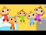 Five Little Monkey  Nursery Rhymes  Kids Song  Baby Rhymes  Toddlers Videos