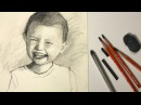 How to draw a portrait from photo step by step - Full lesson