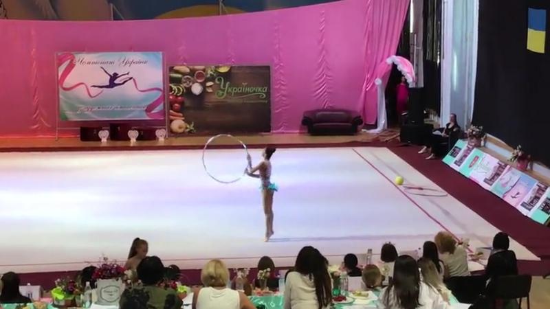 Яна Ярош Обруч - Чемпионат Украины Винница 2017
