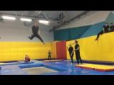 Акробатика на батутах