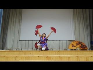 Японский танец с веерами (хореограф - моя Ритуля)