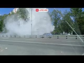 В Зеленограде во время движения загорелся пассажирский автобус