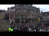 Saint-Etienne fans in Manchester