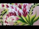 One Stroke Painting Shell Stroke Simple Decorative Flowers