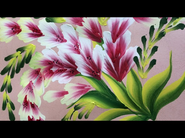 One Stroke Painting- Shell Stroke Simple Decorative Flowers