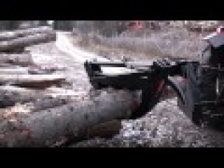 трелевка леса МТЗ-82 - YouTube