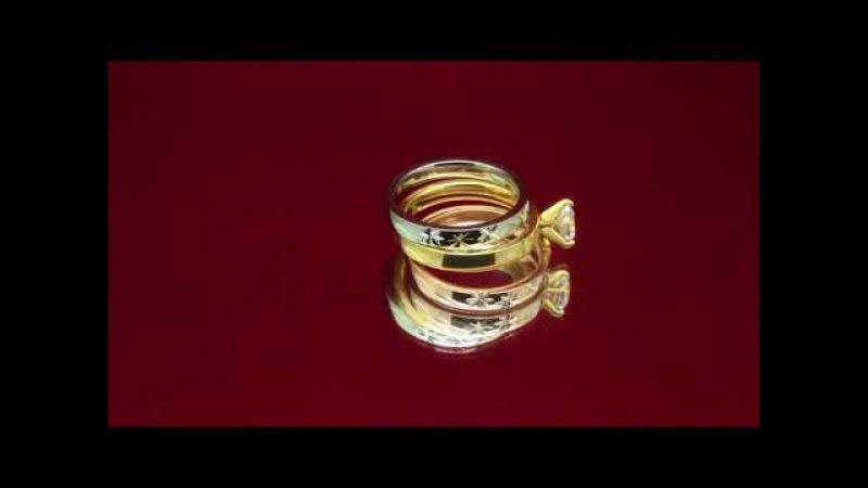 Тройное кольцо из нержавеющей медицинской стали Знойные воспоминания