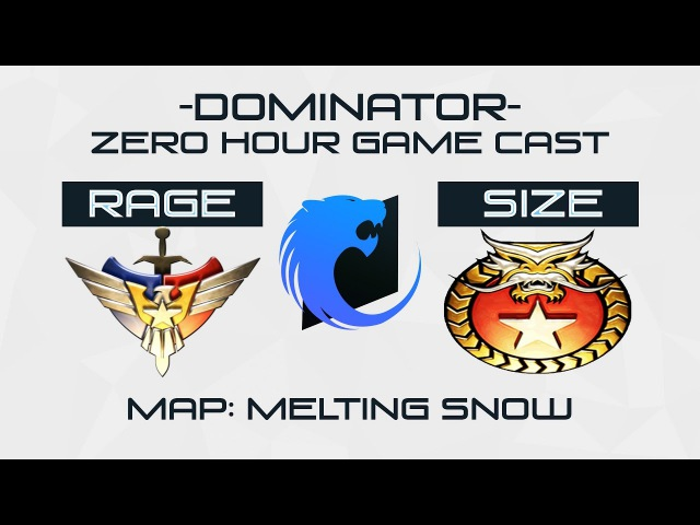ZH - Rage (SWG) vs Size (Inf) Game Cast