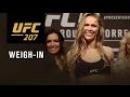Официальное взвешивание перед турниром UFC207