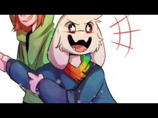 Storyshift Chara and Asriel AM(Music Video)WindFall(TheFatRat)