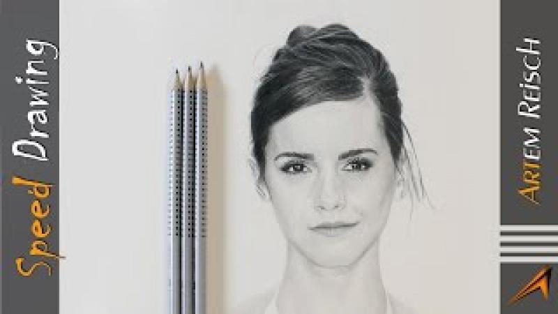 Timelapse Drawing - Emma Watson | Speed Drawing Pencil Drawing