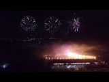 Фестиваль круг света на гребном канале. Аэросъёмка lightfest Moscow