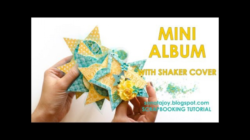 Mini album with shaker cover. Scrapbooking Tutorial. Scraps Of Darkness July 'An Ocean Tale' Kit