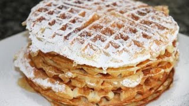 ТВОРОЖНЫЕ ВАФЛИ НА ЗАВТРАК . Cottage Cheese Waffles