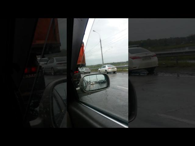 Дтп в Иркутске на объезной Новоленино 09.09.17