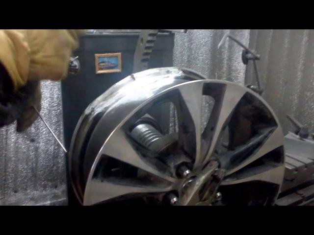 Ремонт литого диска R18.(г.Липецк)Часть первая.