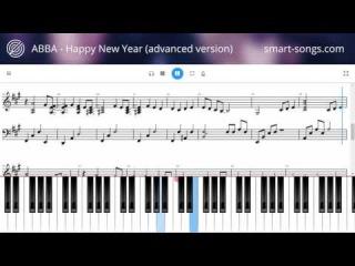 Abba - Happy New Year (advanced piano version smart-songs.com)