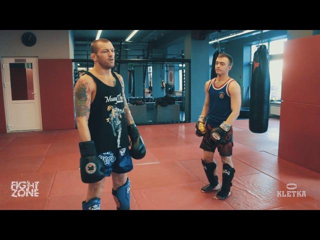 Защита от мидл-кика —техника ударов ногами в Тайском боксе с Андреем Басыниным