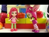 Мультики для девочек. Куколки. Малинка и Земляничка в магазине кукольный театр