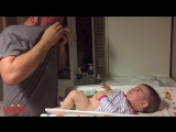 Funny Father taking care of his Baby _ Father and Baby Compilation
